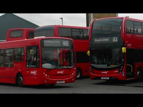Twickenham bus Garage Abellio West buses and blinds change.