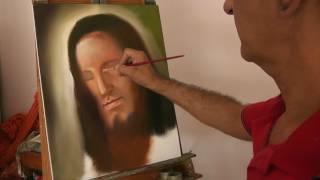 Pintando Jesus na tela