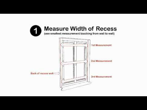 hand sewn roman blinds - how to measure a recessed window