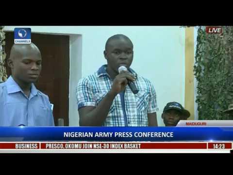 Nigerian Army Parade Captured, Repentant Boko Haram Members