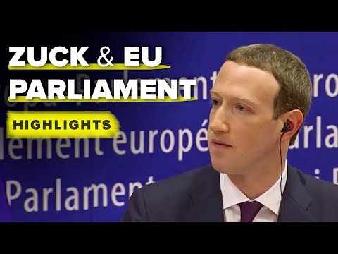 Zuckerberg EU Parliament highlights