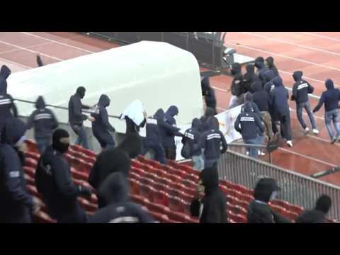 Riots in Zürich after the relegation of FC Zürich 25.05.2016