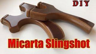 Как сделать рогатку из текстолита   How To Make Slingshot From Micarta