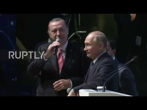 Turkey: Putin and Erdogan celebrate completion of TurkStream offshore section