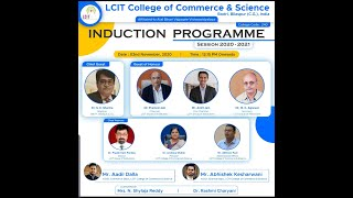 Induction Programme  II  LCIT College of Commerce and Science Bilaspur II 2 November , 2020