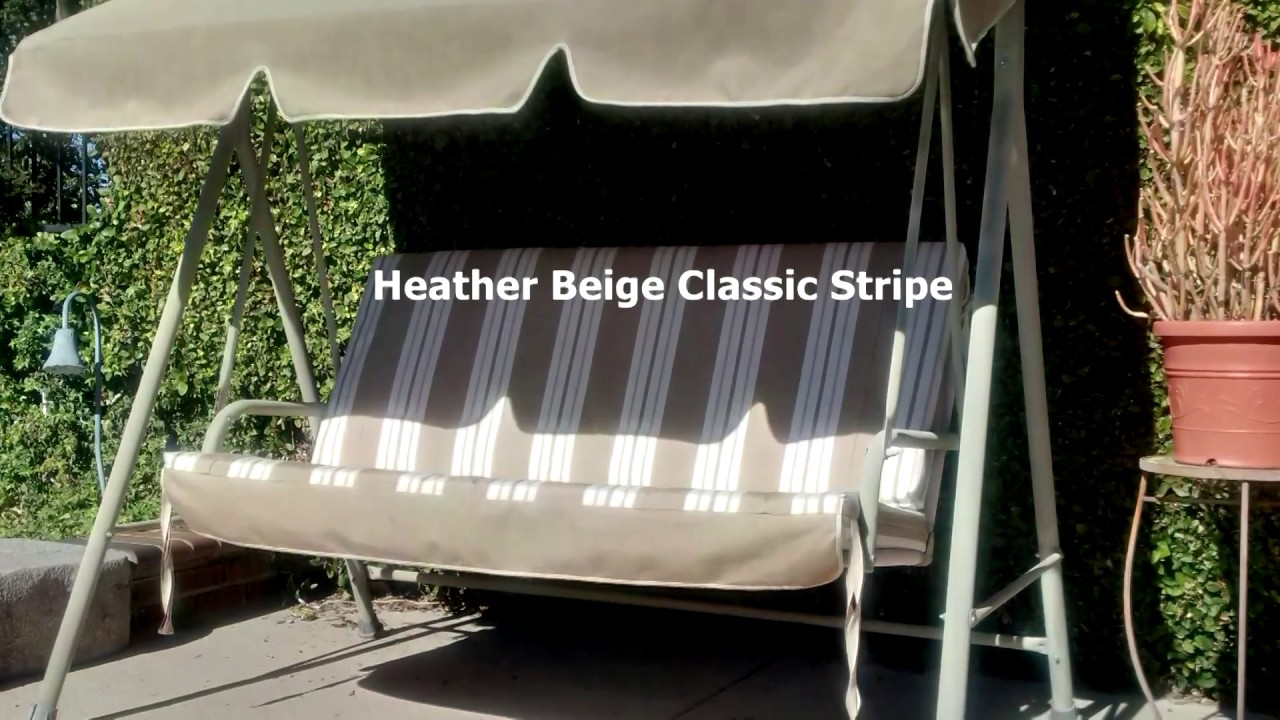 Patio Swing Cushions, Seat Support And Canopy Fabric
