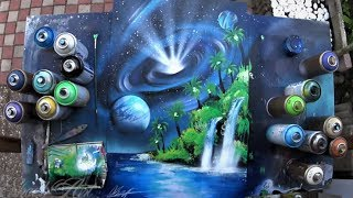 SPRAY PAINT ART by Skech - Laguna under the space Maelstrom