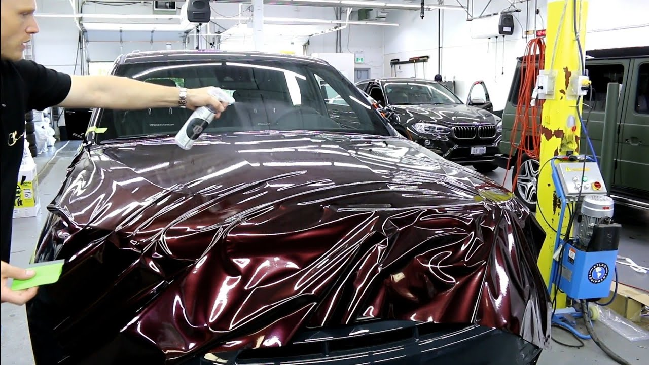 New Color How To Vinyl Wrap A Hood Jeep Trackhawk In