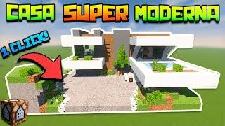 Minecraft | CASA SUPER MODERNA *AMOBLADA* con UN SOLO COMANDO! + TUTORIAL | SIN MODS !!!