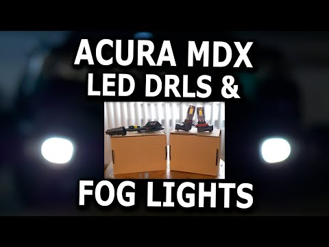 Acura MDX LED DRL And Fog Light Bulbs Replacement
