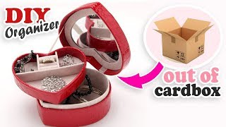 DIY HEART ORGANIZER OUT OF BOX // Jewelry Keeping Cute Box Organizer Making Idea