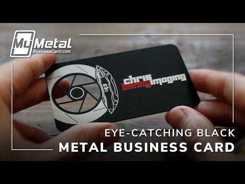Amazing Black Metal Business Card | My Metal Business Card