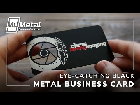 Amazing Black Metal Business Card