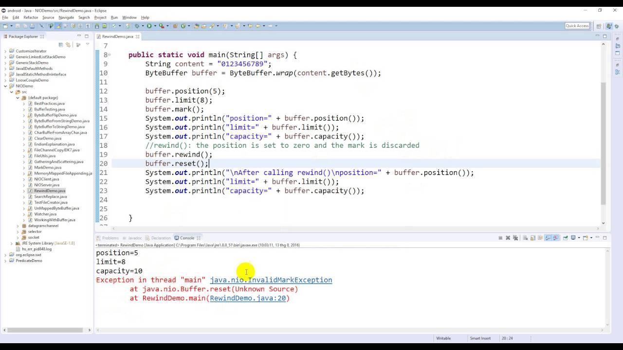 Java nio bytebufferwind demo youtube java nio bytebufferwind demo baditri Images