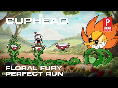Cuphead - Floral Fury Boss Fight (Perfect Run)