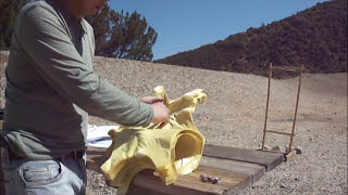 Skarr Armor Kevlar vest vs 9mm, 45ACP, 12g slug