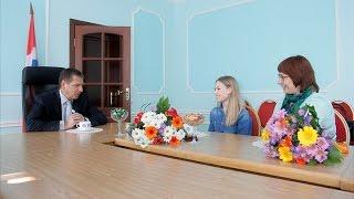 Встреча двукратной чемпионки мира по спортивной акробатике с Министром спорта Омской области