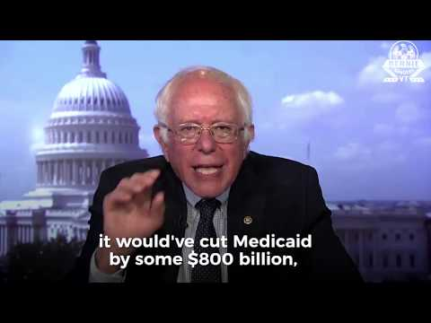 Bernie Sanders AWESOME Reaction to Trump & the GOP Health care bill failure 7/18/2017 video