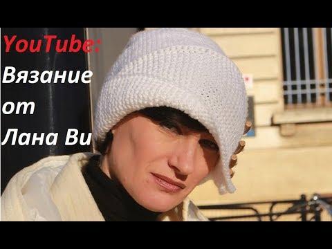 Вязаная шапочка Робин Гуда: 1 видео. Шапка спицами лицевой и платочной вязкой. Вязаные шапки спицами