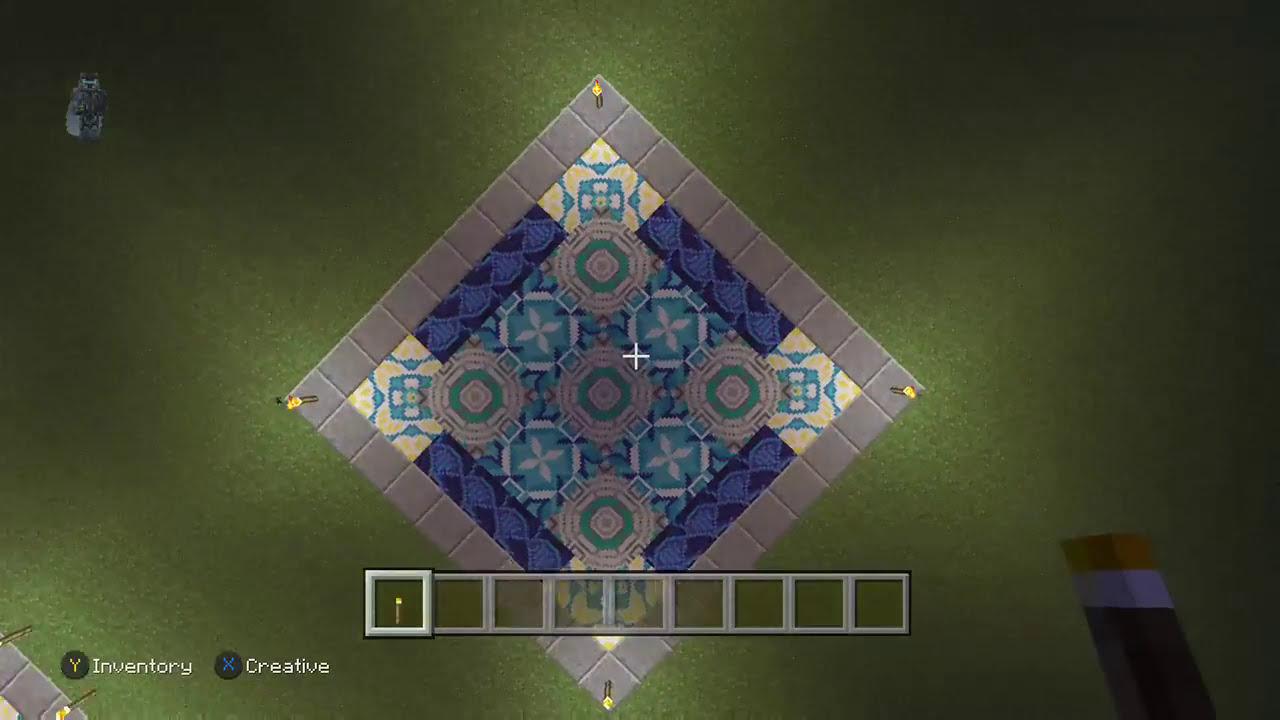 Glazed Terracotta Floor Design Tutorial   Minecraft