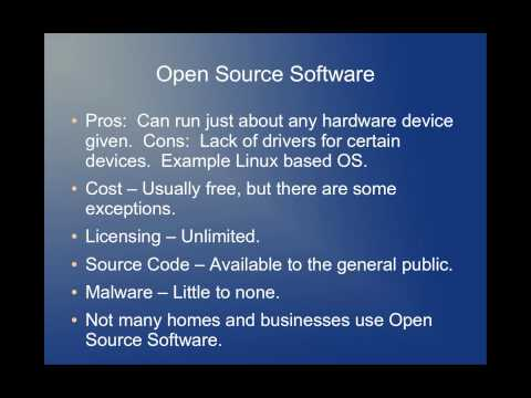 The difference between open source and  closed source software