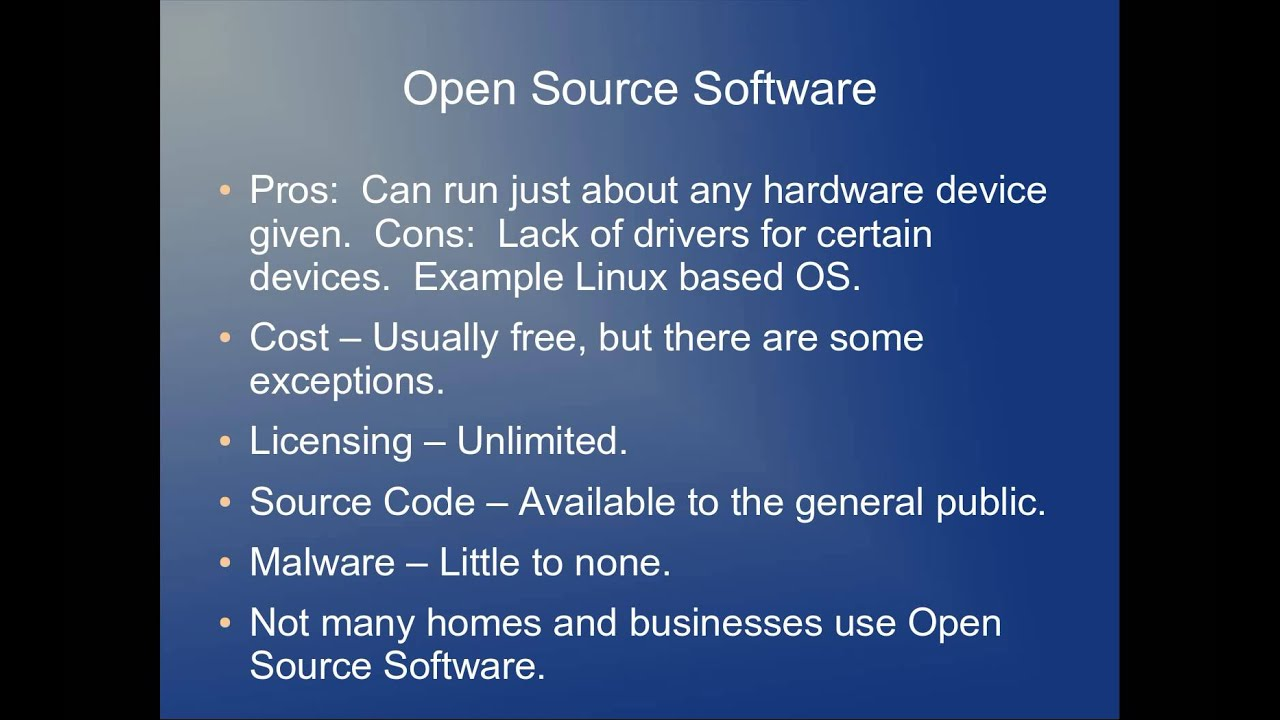 The difference between open source and closed source Open source programs