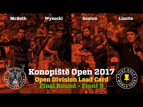 2017 Konopiště Open Lead Card Final Round Front 9 (McBeth, Wysocki, Sexton, Lizotte)