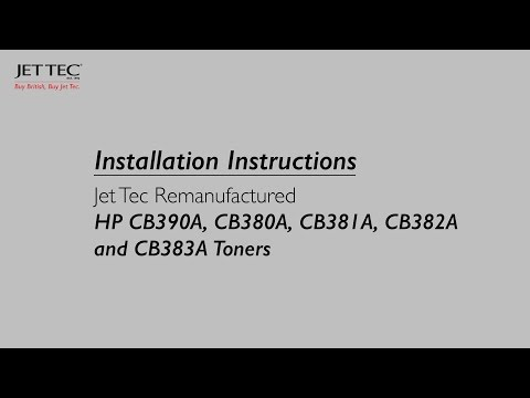 How to install Jet Tec Remanufactured HP CB390A and CB380A Toners