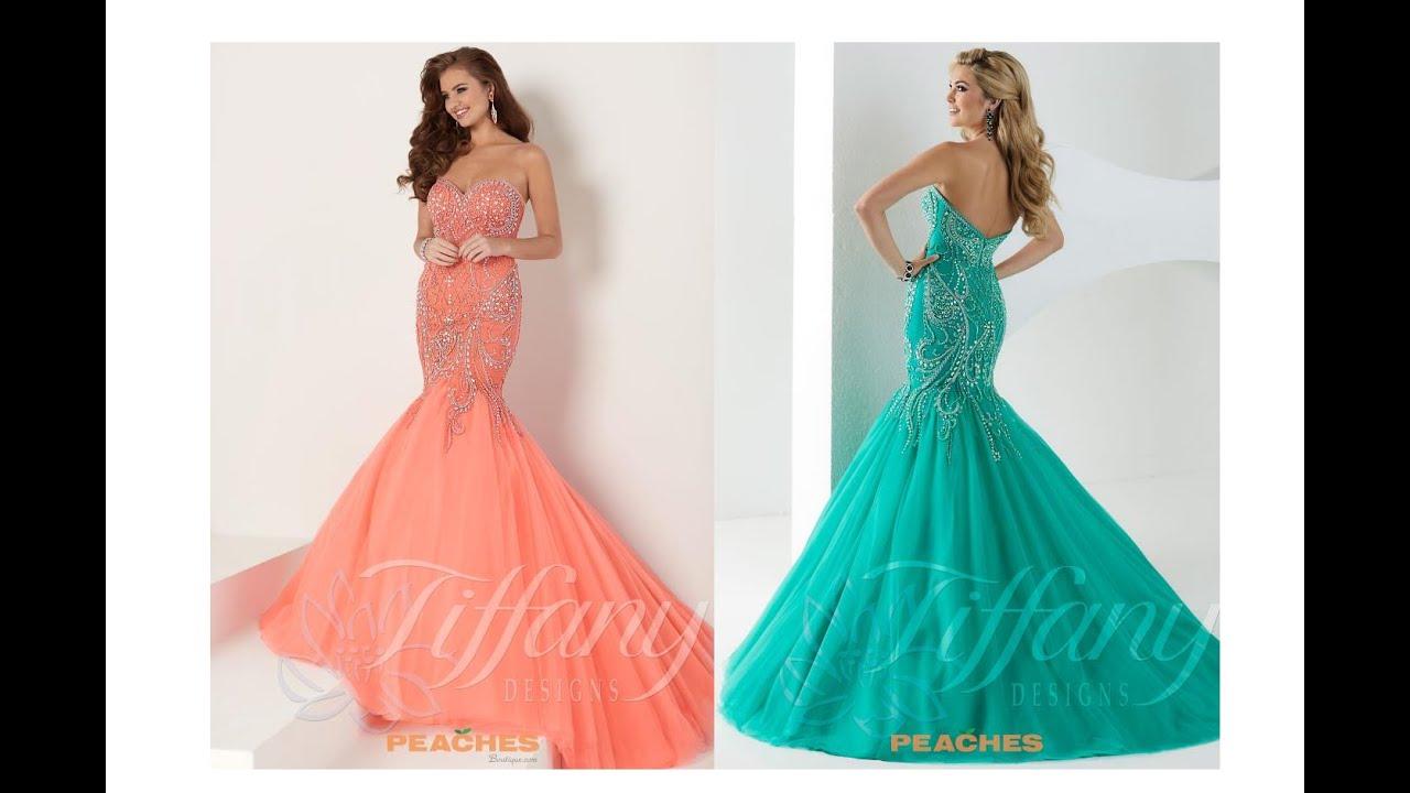 Tiffany Prom Dress 16162 - YouTube