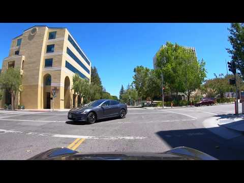 Driving in Menlo Park & Palo Alto, CA (June 28, 2020)