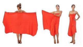 Платье с открытыми плечами (платье-трансформер