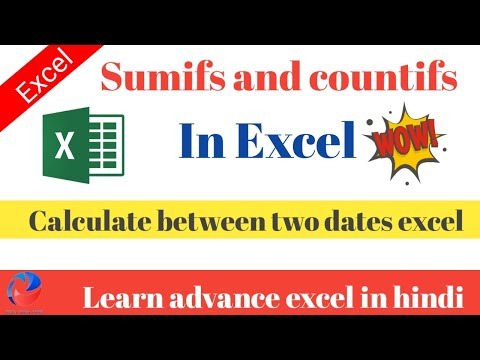 How to use sumif and countifs in excel || sumifs and countifs in excel to calculate between two date