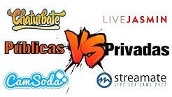 ¿Mejor páginas publicas o privadas? Modelos webcam