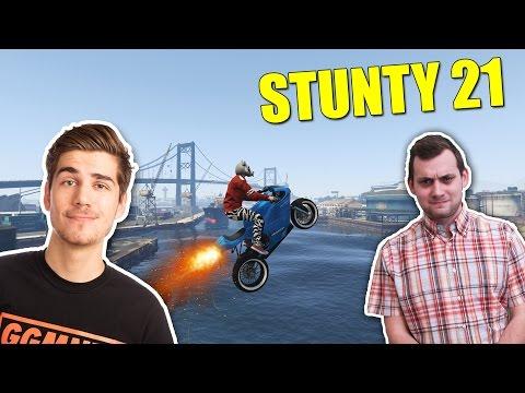 Grand Theft Auto 5 - STUNTY - GOGO Stuntuje  #21 /w GoGoManTV