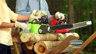 Аккумуляторная цепная пила GreenWorks GD40CS40 - Садовые Механизмы(Купить аккумуляторную цепную пилу GreenWorks GD40CS40: ..., 2015-09-16T09:42:13.000Z)