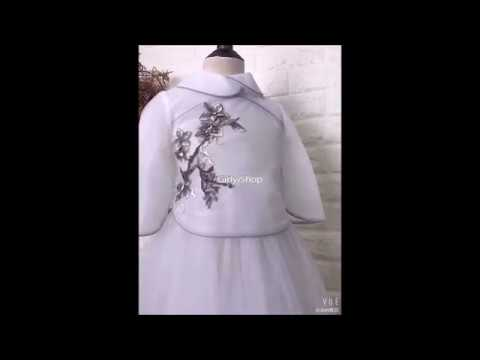 Floral applique gown youtube