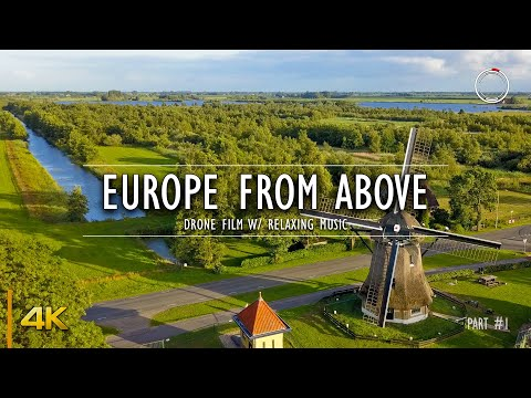 Europe from Above Part - 1 | 1 Hour Drone Film | Aerial 4K Video w/ Relaxing Music | OmniHour