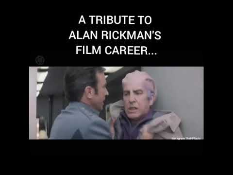 A Tribute to Alan rickman's Film Career [Filmography] (February 21st 1946 - January 14th 2016)