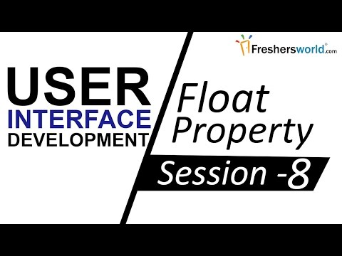 Learn UI/UX Development CSS – Session 8 II CSS Float Property, Guide for UI Developers