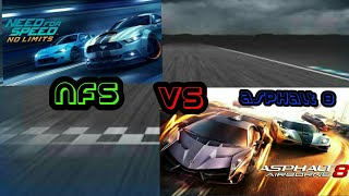 Asphalt 8 VS nfs no limits