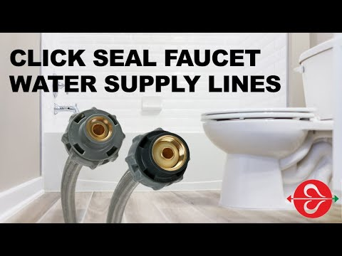 How To Install Fluidmaster S Click Seal Faucet Water Supply Line Youtube