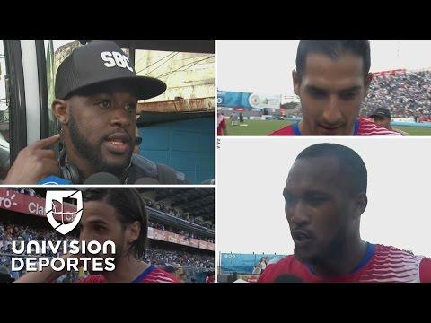 Los jugadores de Costa Rica dieron por bueno el resultado ante Honduras