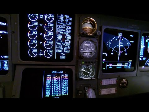 Gulfstream 5 cockpit at 47,000ft (14,300m)