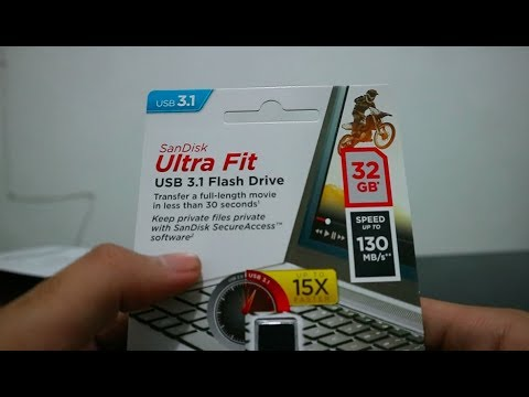 Unboxing Review SanDisk Ultra Fit USB 3.1 32GB 130MBps Indonesia