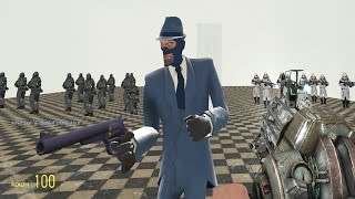 TF2 Spy vs Combine Soldiers and Elites in Garry's Mod