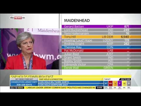 Sky News HD | Theresa May Holds Maidenhead Seat June 2017