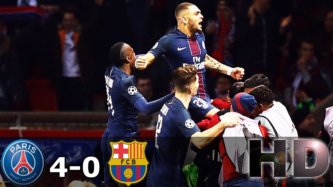 Paris Saint-Germain (PSG) vs Barcelona 4-0 All Goals ...