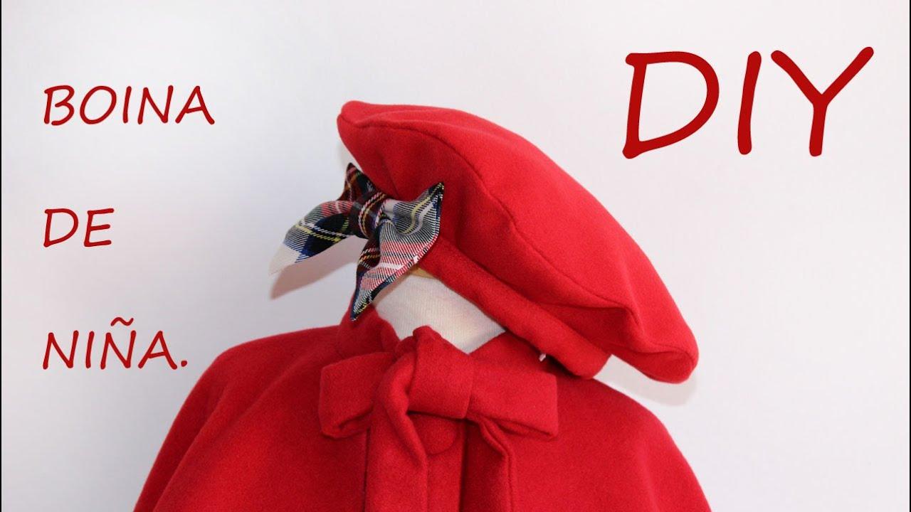 43f7cfae2d077 Como hacer una boina de niña. Costura y manualidades. - YouTube