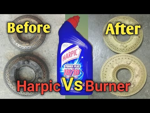 How to clean gas burner at home with harpic