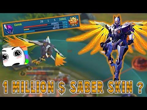 BEST MOBILE LEGENDS SKIN EVER MADE ! SABER Codename : Storm -  Gameplay -